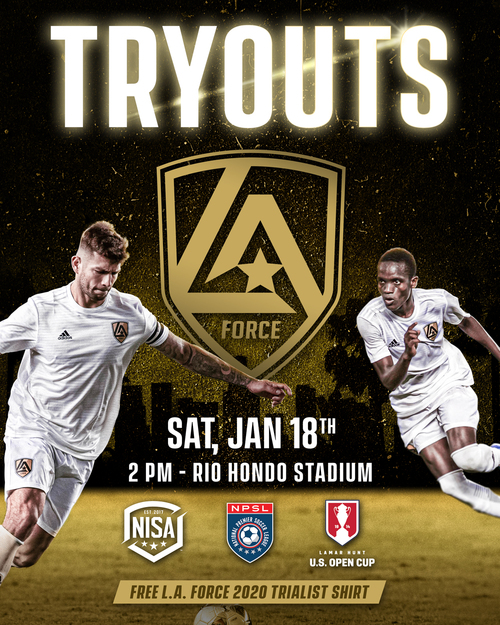 LA Force - Tryouts poster
