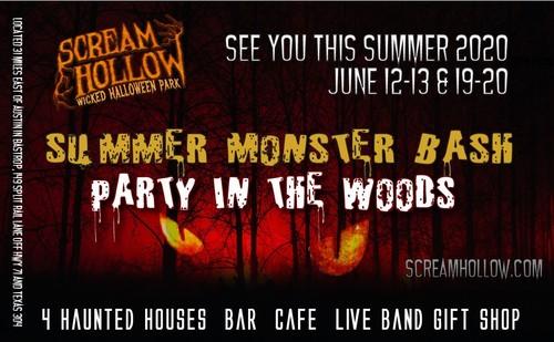 2020 Summer Monster Bash poster