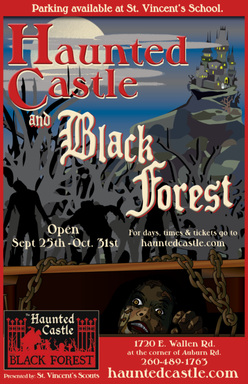THE HAUNTED CASTLE AND BLACK FOREST poster