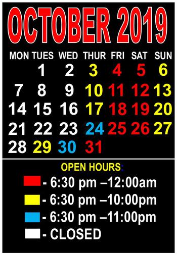 Las vegas haunts calendar 7545