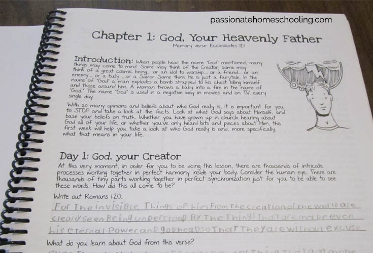 Teen Prasso Student Journal Sample Page