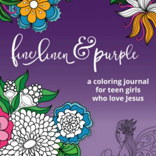 Fine Linen and Purple Coloring Journal