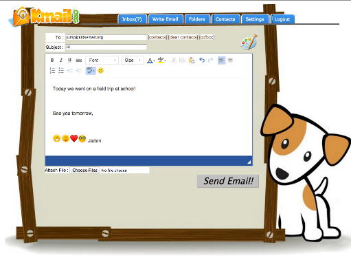 Safe Email For Kids