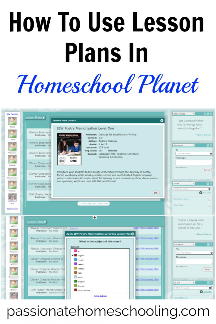 How to make your homeschool planning easy by using lesson plans with Homeschool Planet.