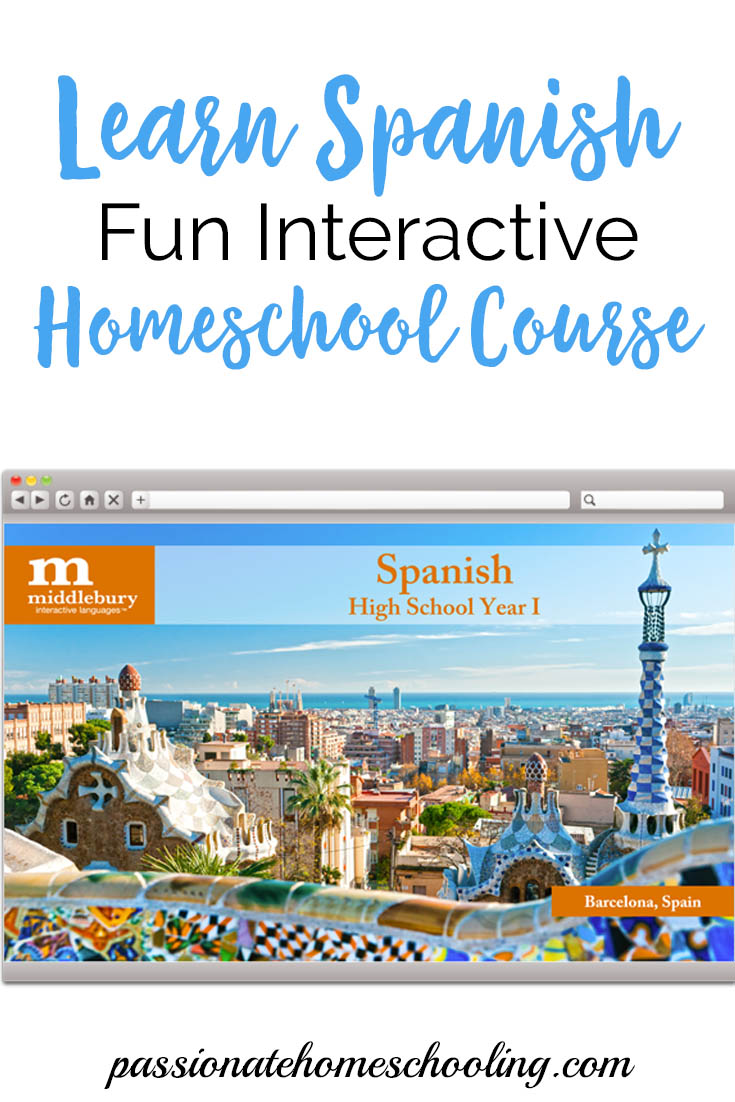 Learn Spanish online with this fun interactive course. Great for homeschooling or adults who would like to learn Spanish at their own pace. | www.passionatehomeschooling.com