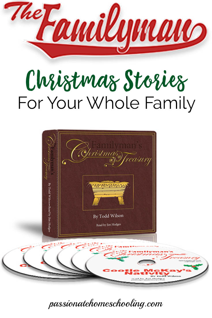 The Familyman's Christmas Treasury is a wonderful set of audio stories for your whole family. The stories are from a Christian world view to help us remember why our families celebrate Christmas. | www.passionatehomeschooling.com