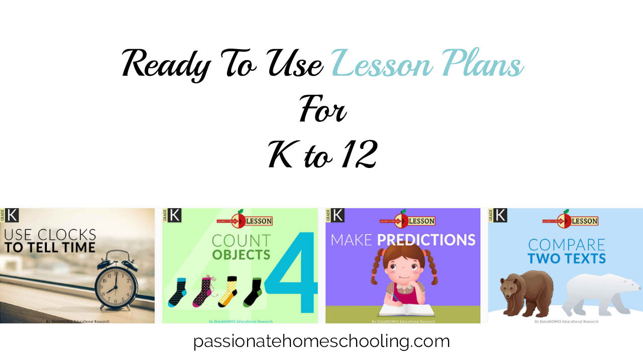 Ready To Use Lesson Plans For K 12 Review Passionate