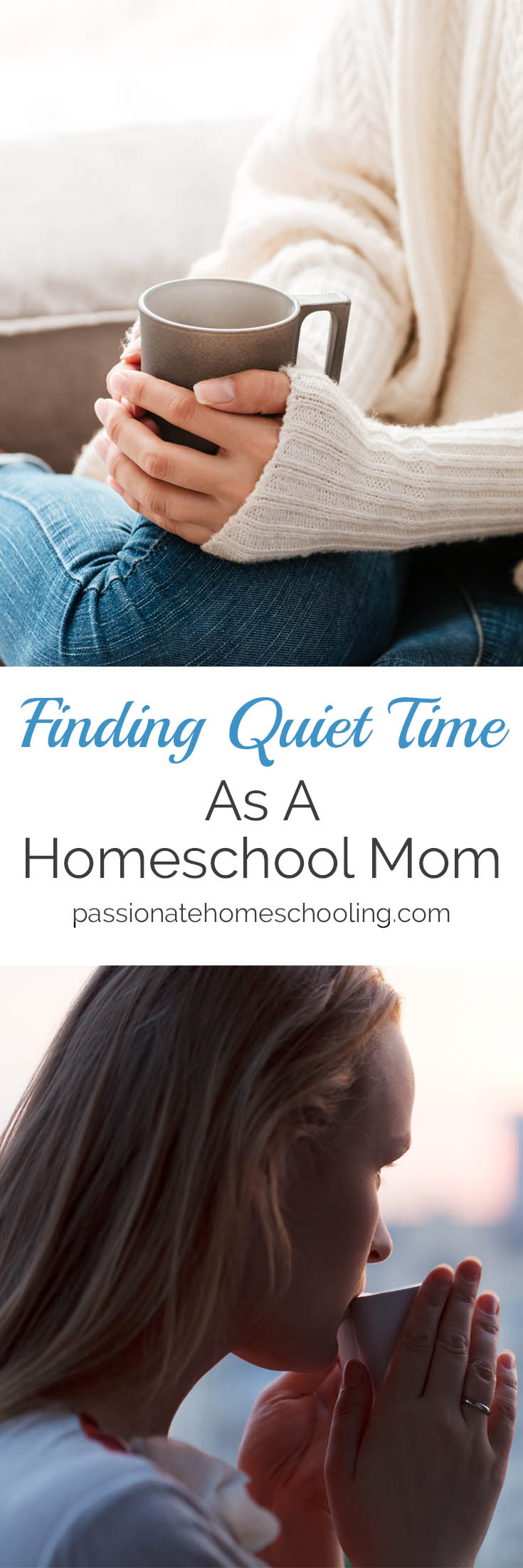 How to find quiet time when you're a busy homeschool mom. www.passionatehomeschooling.com