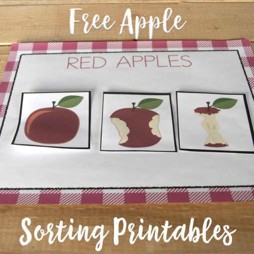 Free Printable Apple Sorting Color