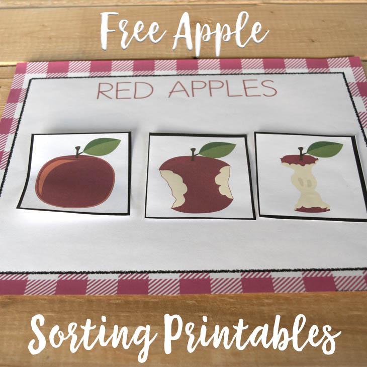 Free Printable Apple Sorting Color