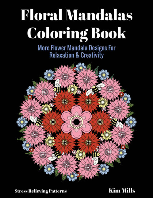 Flower Mandalas Coloring Book Adult Of Calming