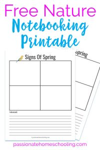Free Spring Nature Notebooking Printable. This easy to use nature study printable is perfect for print and go. Get outside and enjoy nature study this spring.