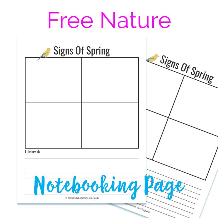 Free Spring Notebooking Page
