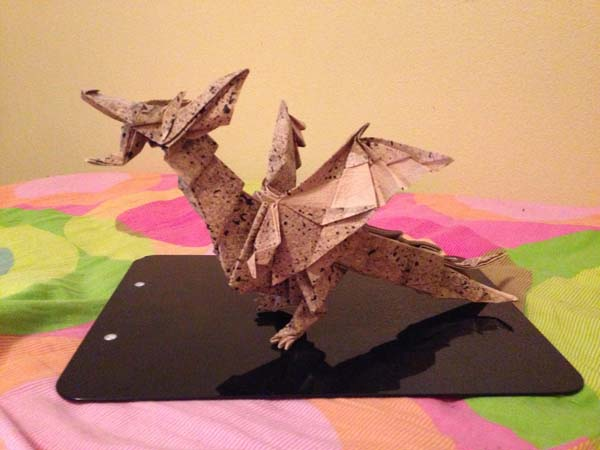 27 Spectacular Western-Style Origami Dragons | 450x600
