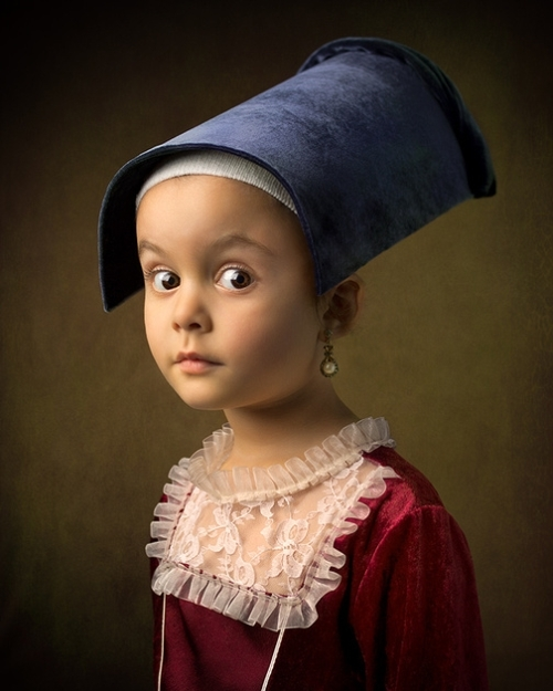 Old Masters inspired portraits of little Athena