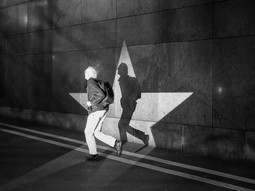 What happens when you combine projected light with street photography