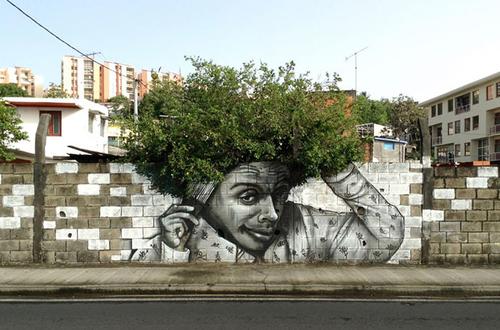 Street art meets nature