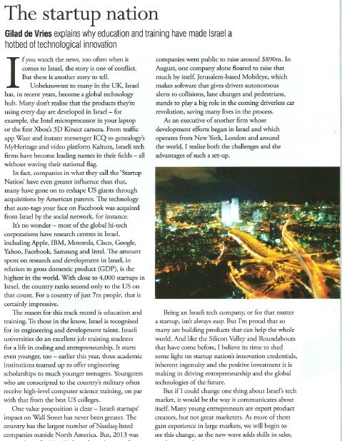 Outbrain 's blog by Gilad de Vries in Communicate Magazine's latest issue