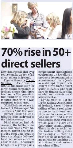 Direct Selling Association in The  Irish Examiner