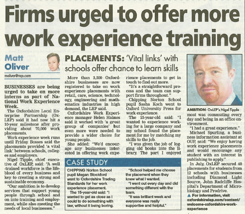 OxLEP in the Oxford Mail