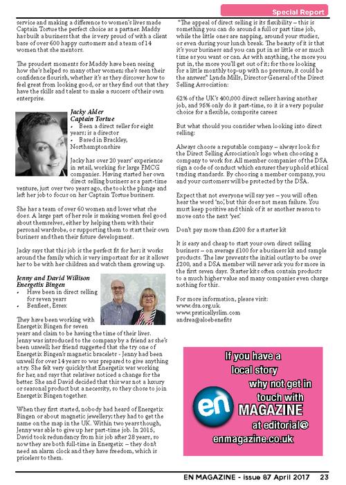 DSA coverage in EN Magazine