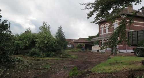 Leers : des dizaines d'arbres abattus pour laisser place au centre petite enfance