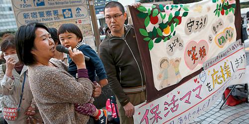 La pénurie de crèches pousse à bout les Japonais