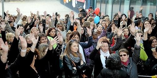Crèches à Montpellier : syndicats et grévistes face à un mur