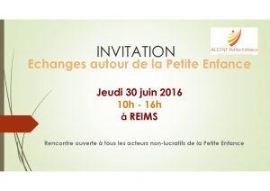 Rencontre autour de la Petite Enfance à Reims