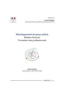 ACCENT salue la qualité du rapport de Sylviane Giampino sur le développement du jeune enfant