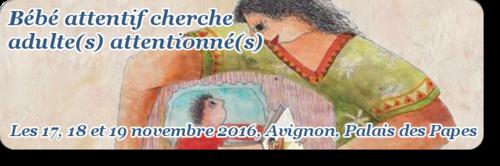 Bébé attentif cherche adulte(s) attentionné(s) : du 17 au 19 novembre à Avignon