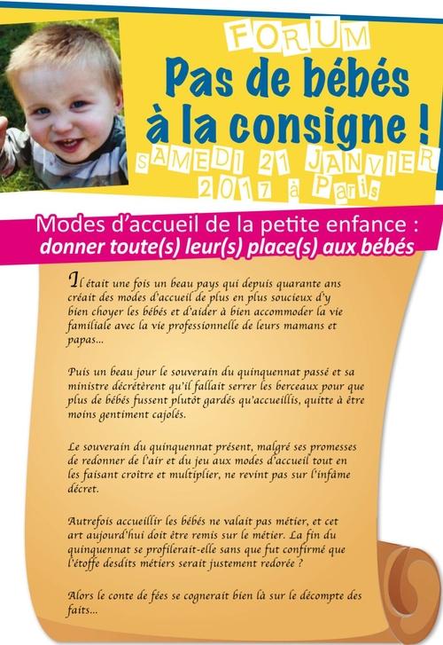 FORUM Pas de bébés à la consigne