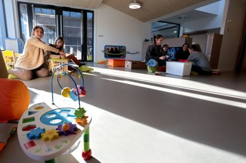 Le centre petite enfance fait ses premiers pas ce mardi matin