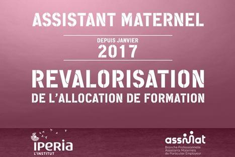 Revalorisation de l'allocation de formation 2017 pour les assistants maternels