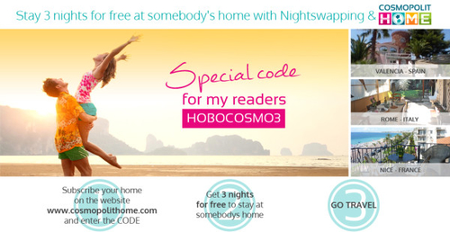 Free Accommodation – Nightswapping with Cosmopolit Home
