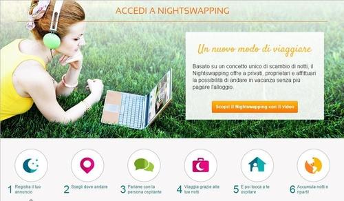 Viaggiare senza pagare l'alloggio: NightSwapping