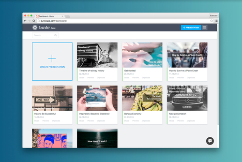 Presentations built for and from the Cloud - Bunkr