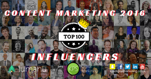 Top 100 Content Marketing Influencers 2016