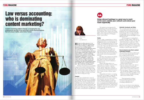 Law vs accounting: who wins at content marketing?