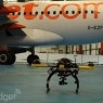 Using drones to inspect aircraft