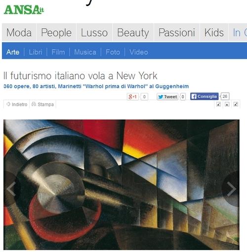 """Simona Giorgetti Poste: """"360 opere, 80 artisti futurismo italiano al Guggenheim"""""""