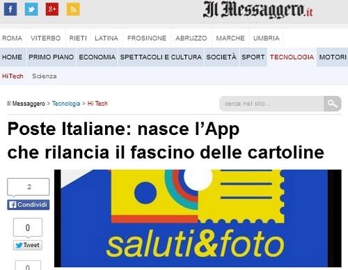 """Giorgetti Poste Italiane, Saluti&foto"""" è la nuova applicazione di PosteApp"""