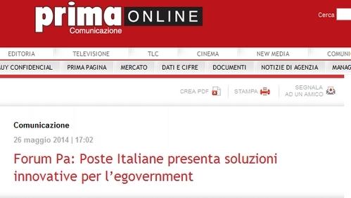 Simona Giorgetti Poste Italiane nuove soluzioni per l'eGovernment