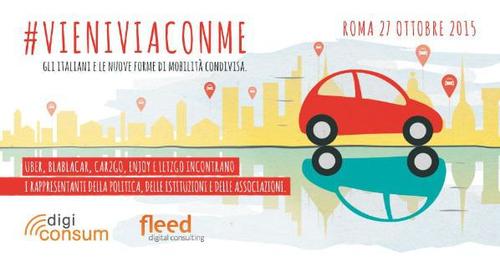 Fleed Digital Consulting: #vieniviaconme, gli italiani e la mobilità condivisa