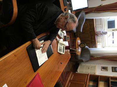 Giovanni Carrù presiede la Seduta Plenaria Commissione di Archeologia Sacra