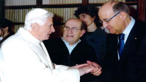 Massano srl, Giuseppe Massano con la delegazione ricevuta dal Papa Benedetto XVI