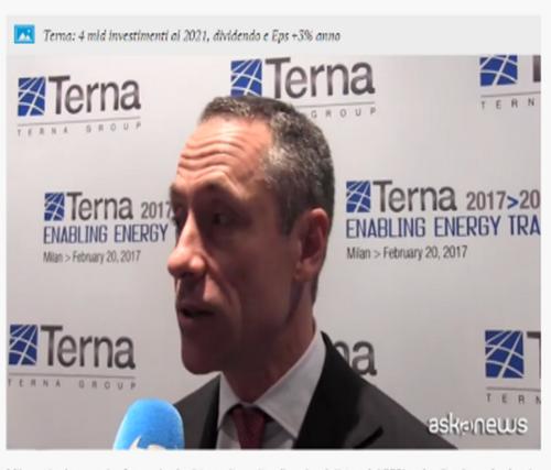 Terna Del Fante: Aumento degli investimenti nella rete elettrica del 30%
