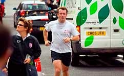 Runners are at a greater risk from pollution than walkers
