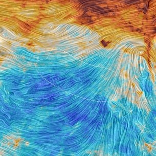 Gravitational waves hidden behind the galaxy