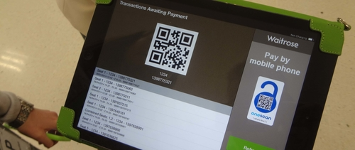 Waitrose in the UK showcases mobile QR payments